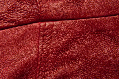 Red Stitched Leather Texture High Resolution