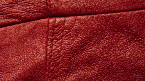 Red Stitched Leather Texture HD