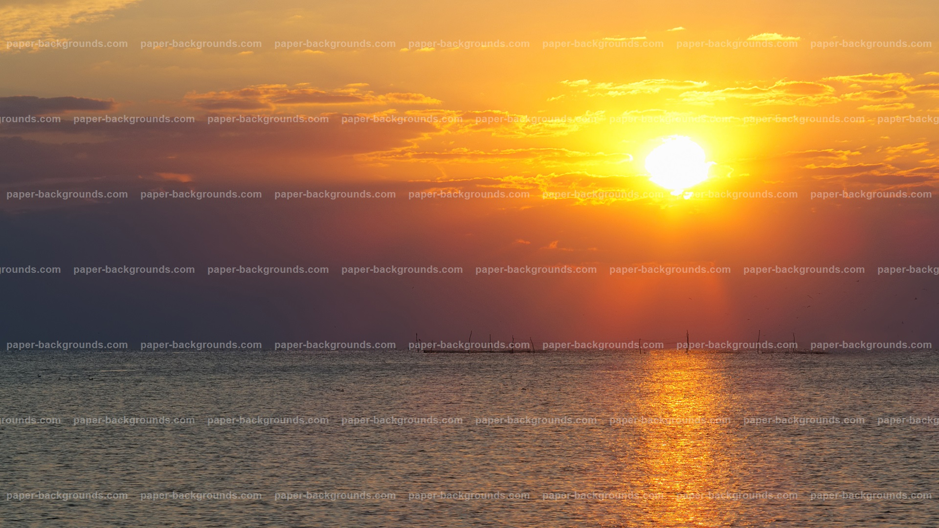 Sea Sunrise Sunset Background HD