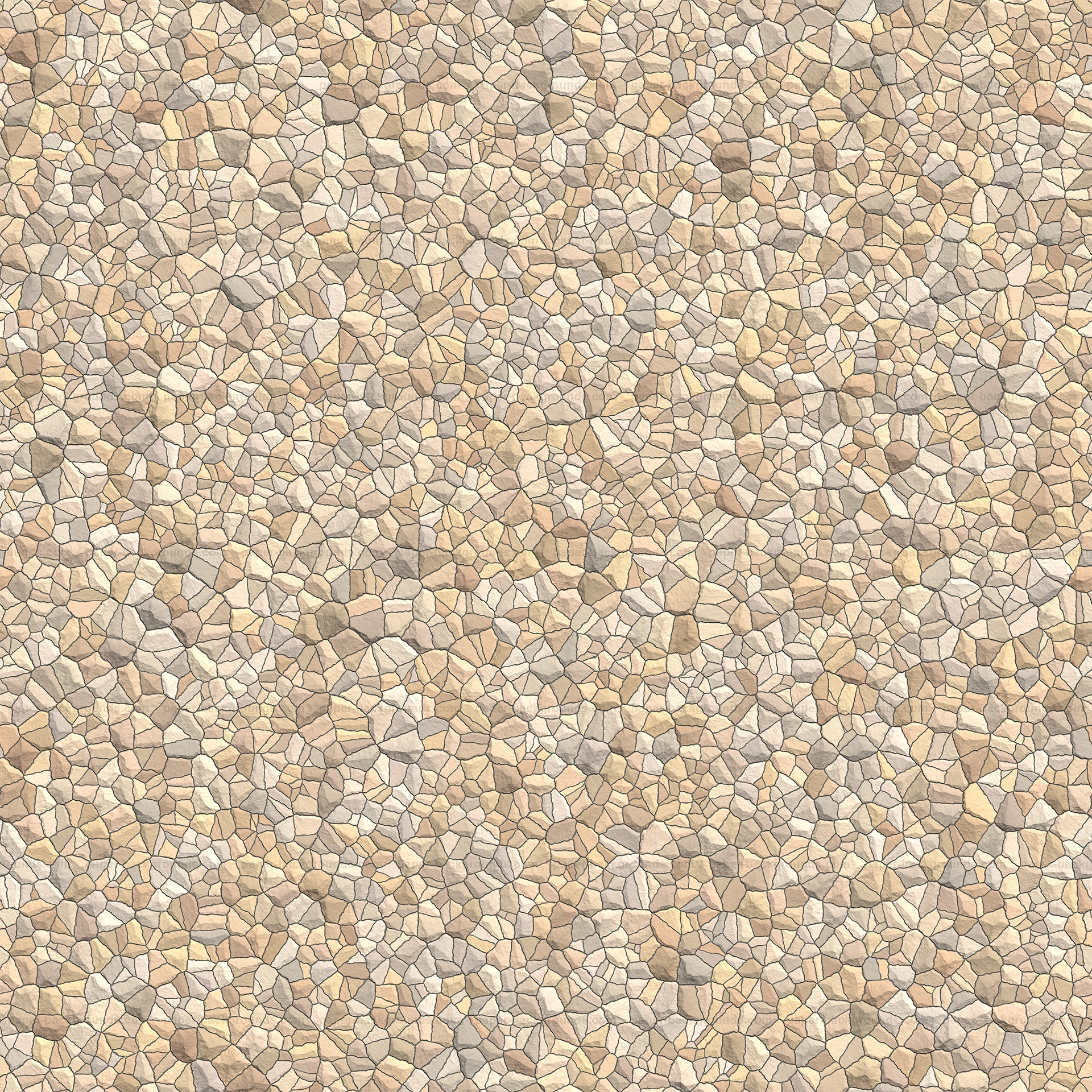 Seamless Pale Stones Gravel Texture HD