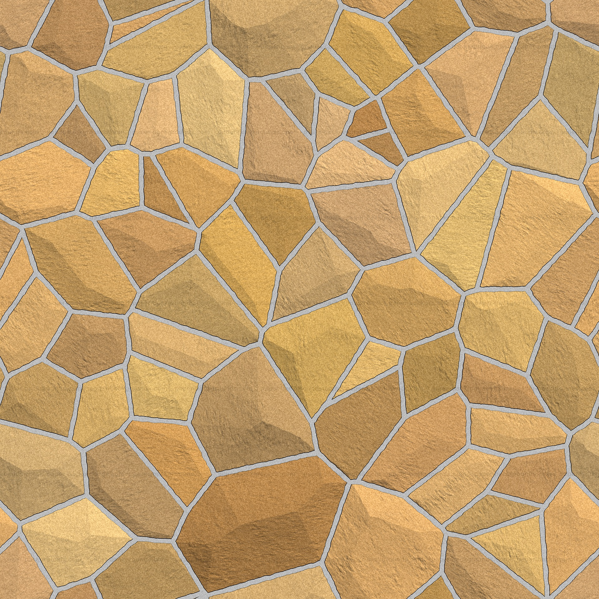 Seamless Yellow Brown Stone Wall Texture HD