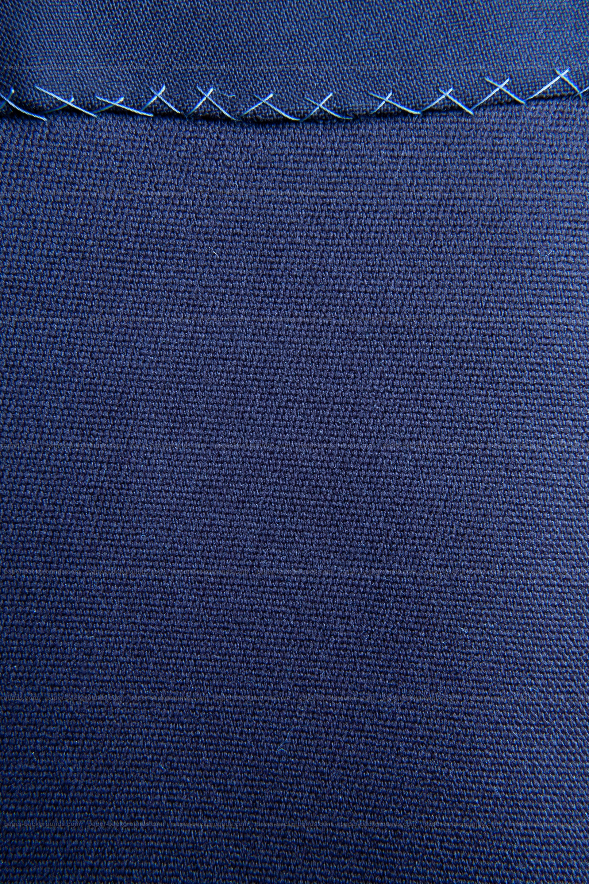 Stitched Blue Fabric Texture Background HD