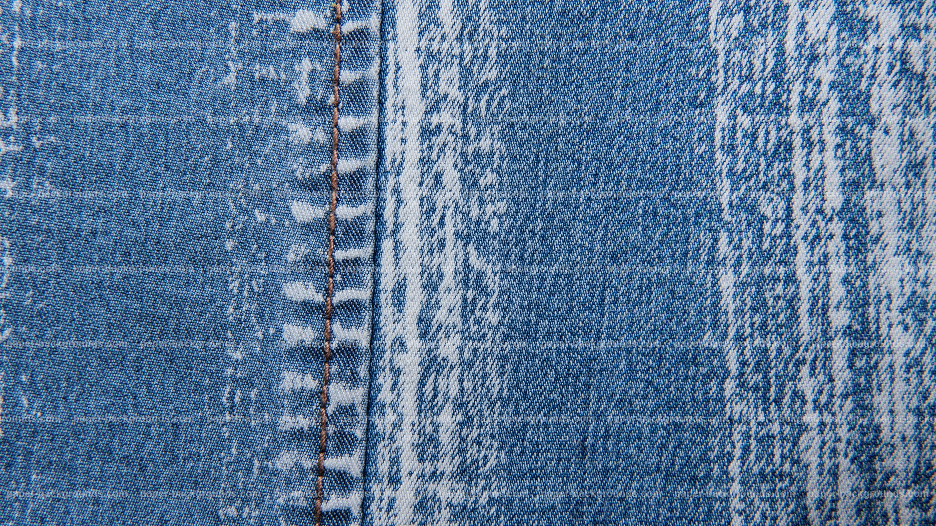 Vintage Blue Jeans Stitched Background Texture HD