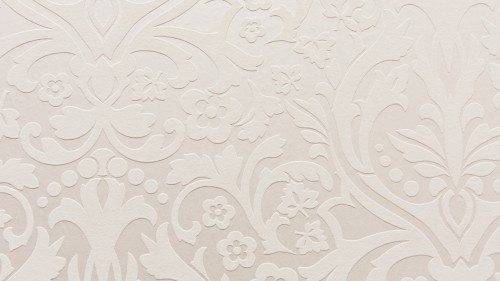 White Wall With Embossed Vintage Pattern Texture HD