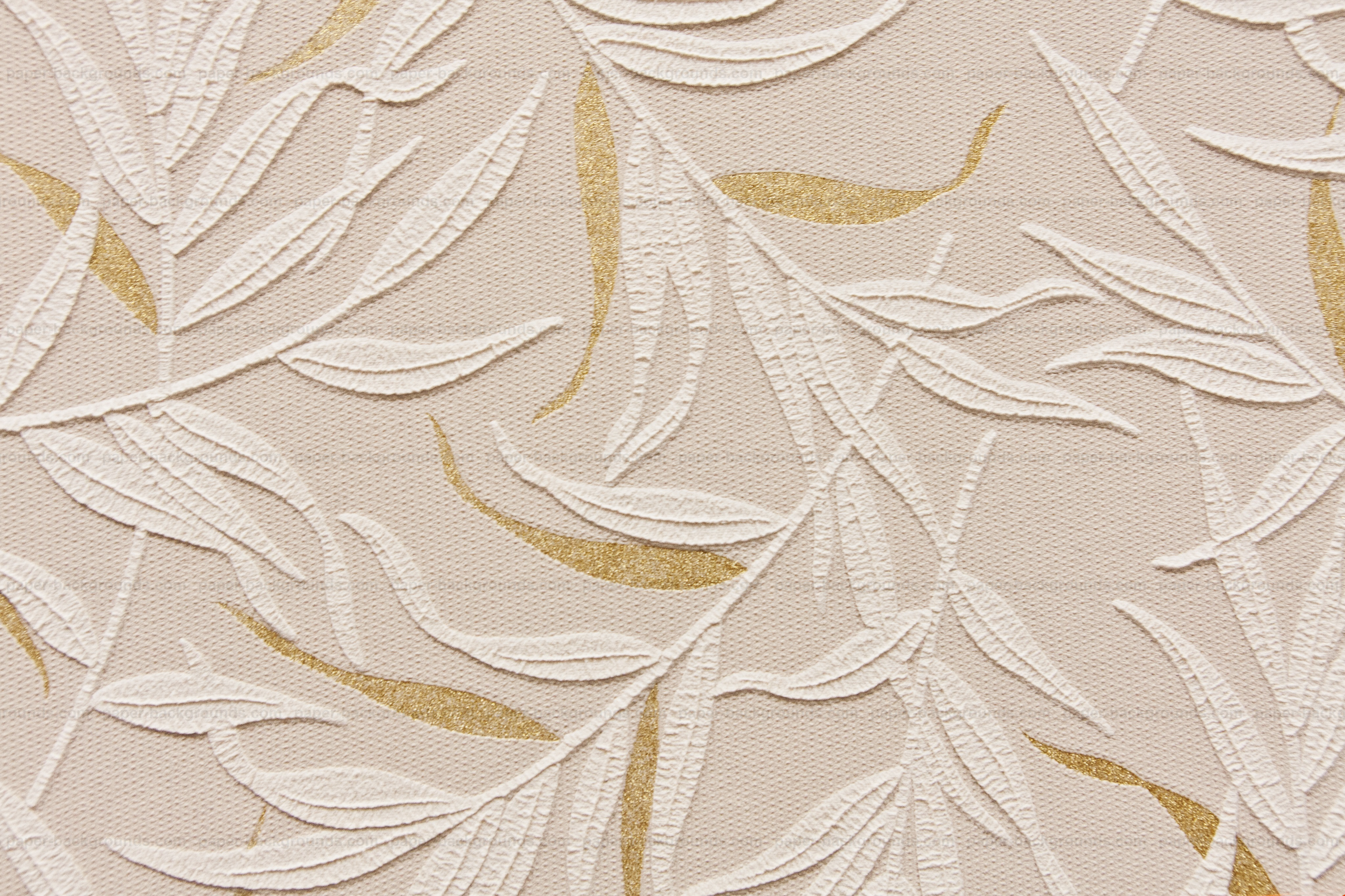 Yellow Wall Embossed Floral Pattern High Resolution