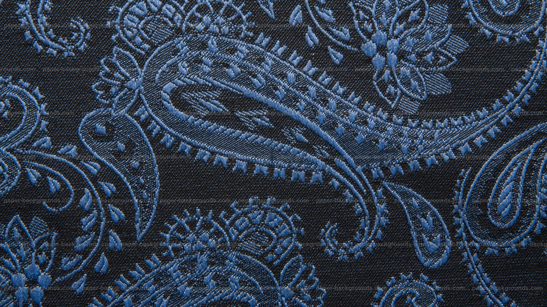 Black Fabric Texture With Vintage Pattern HD