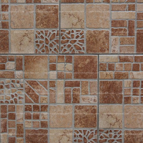 Brown Hone Tiles With Ancient Pattern High Resolution