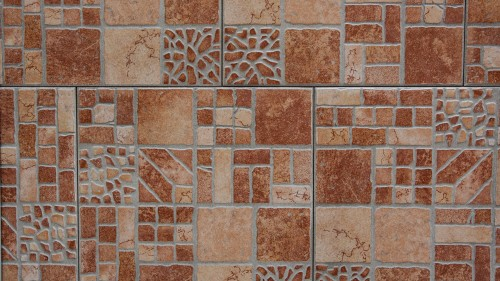 Brown Hone Tiles With Ancient Pattern HD