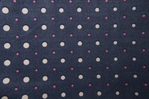 Dark Blue Fabric Texture With White Red Spots High Resolution