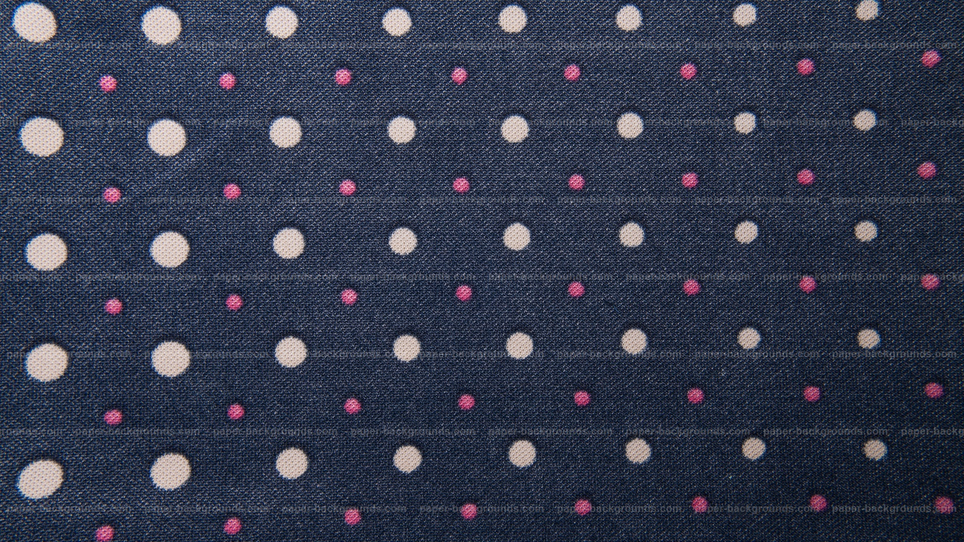 Dark Blue Fabric Texture With White Red Spots HD