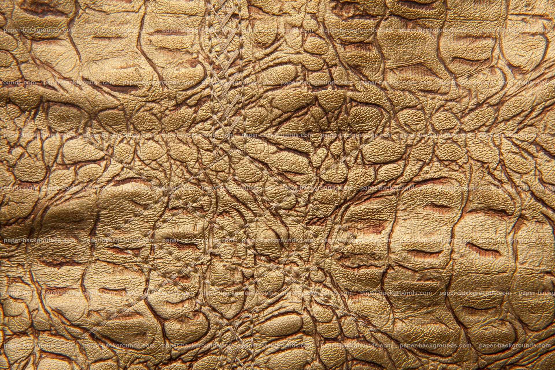 Gold Crocodile Leather Texture HD