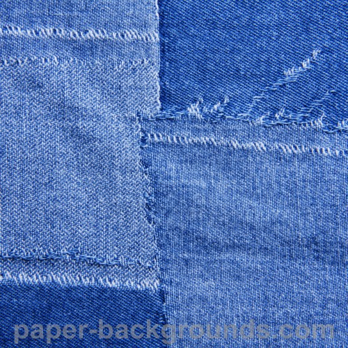 Patched Blue Jeans Texture High Resolution