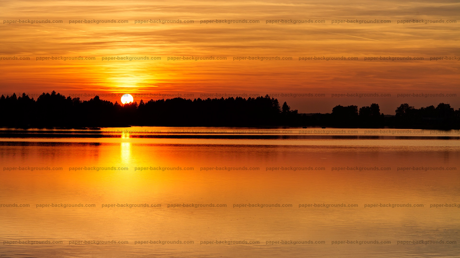 Red Sunset Water Lake HD