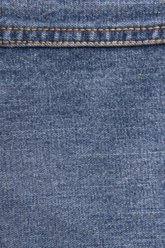 Vintage Blue Jeans Texture With Stitch High Resolution
