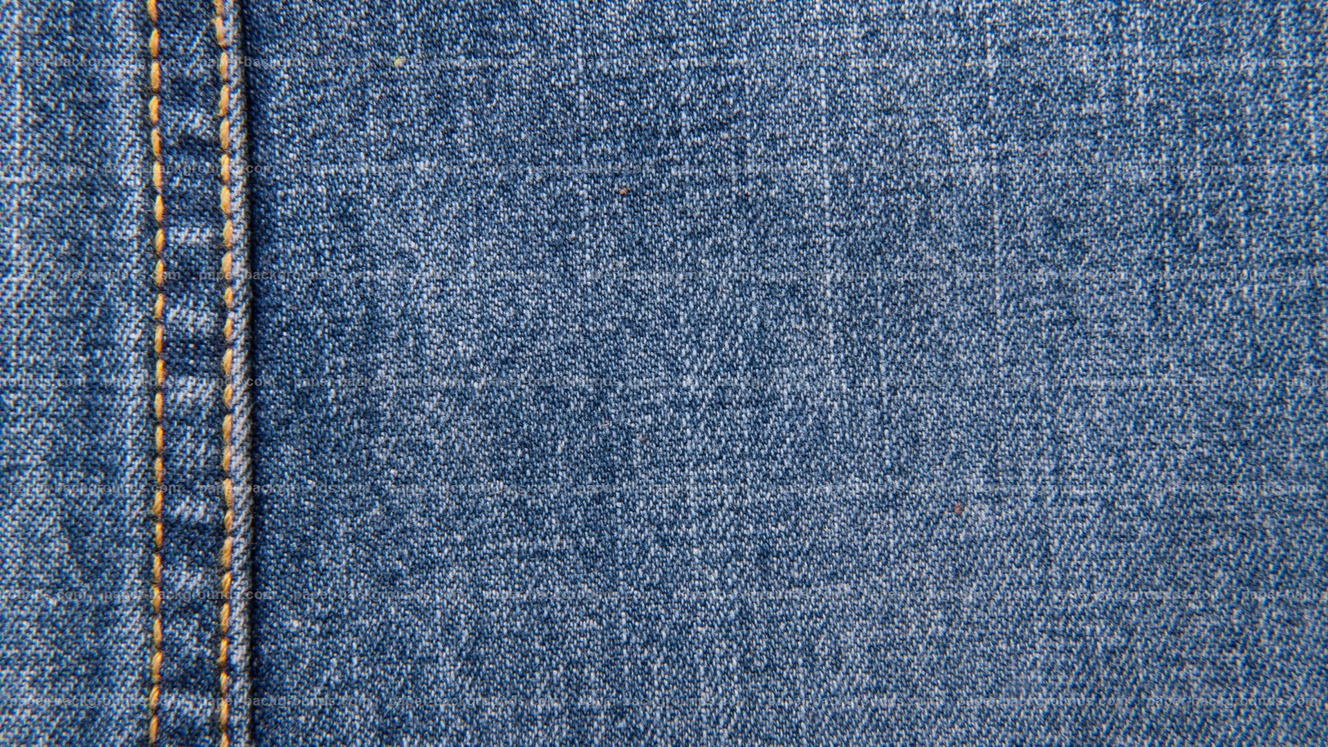 Vintage Blue Jeans Texture With Stitch HD