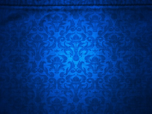Blue Canvas with Damask Pattern Background
