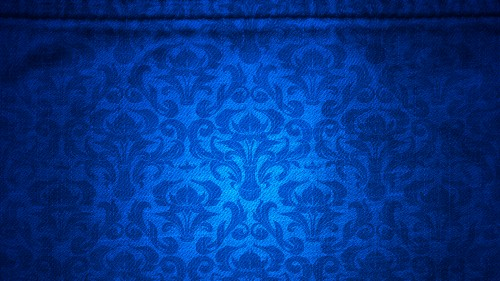 Blue Canvas with Damask Pattern Background HD