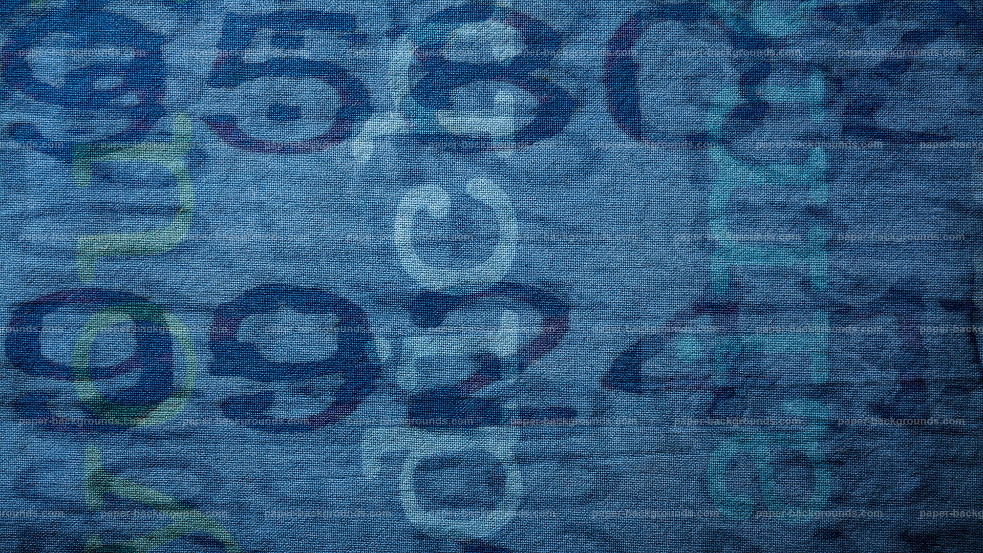 Blue Fabric Texture with Text HD