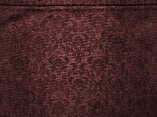 Brown Canvas with Damask Pattern Background