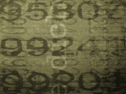 Camouflage Fabric Background with Text