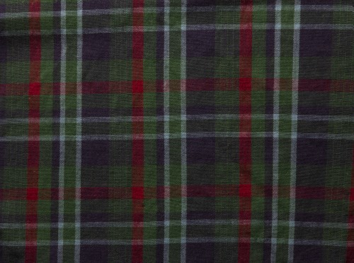 Dark Plaid Fabric Texture