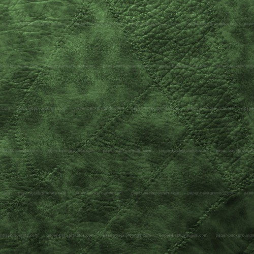 Green Stitched Leather Patches Background