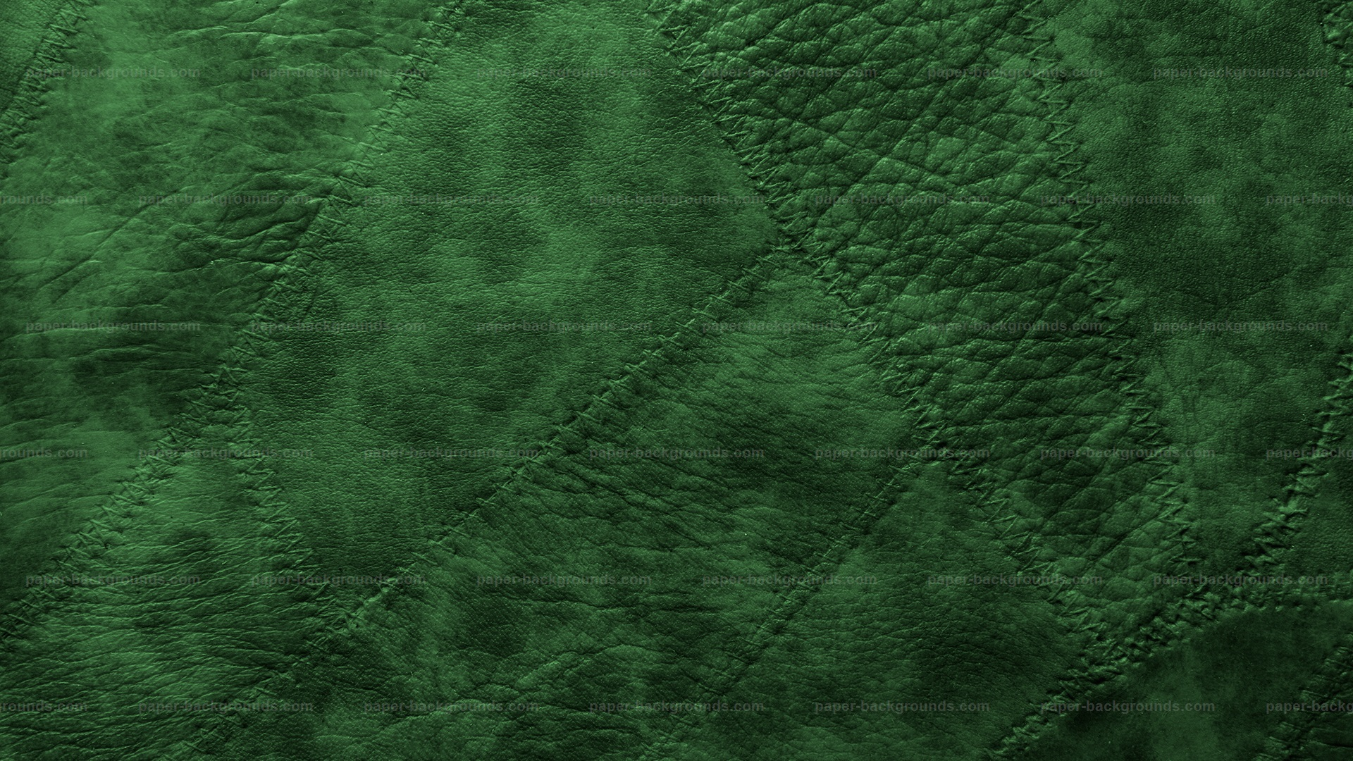 Green Stitched Leather Patches Background HD