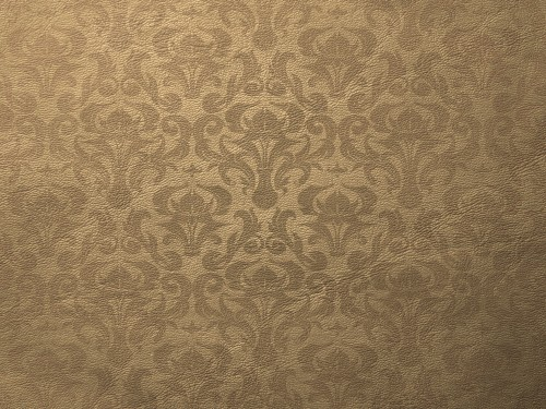 Light Brown Leather Texture with Damask Pattern