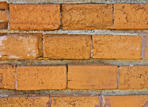 Old Brick Wall Close-up Texture Background