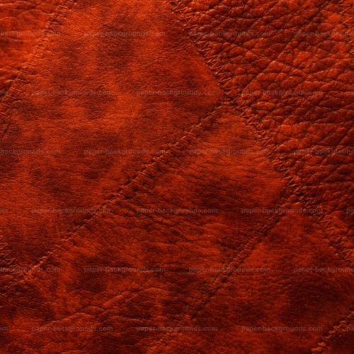 Red Sewed Leather Patches Background HD