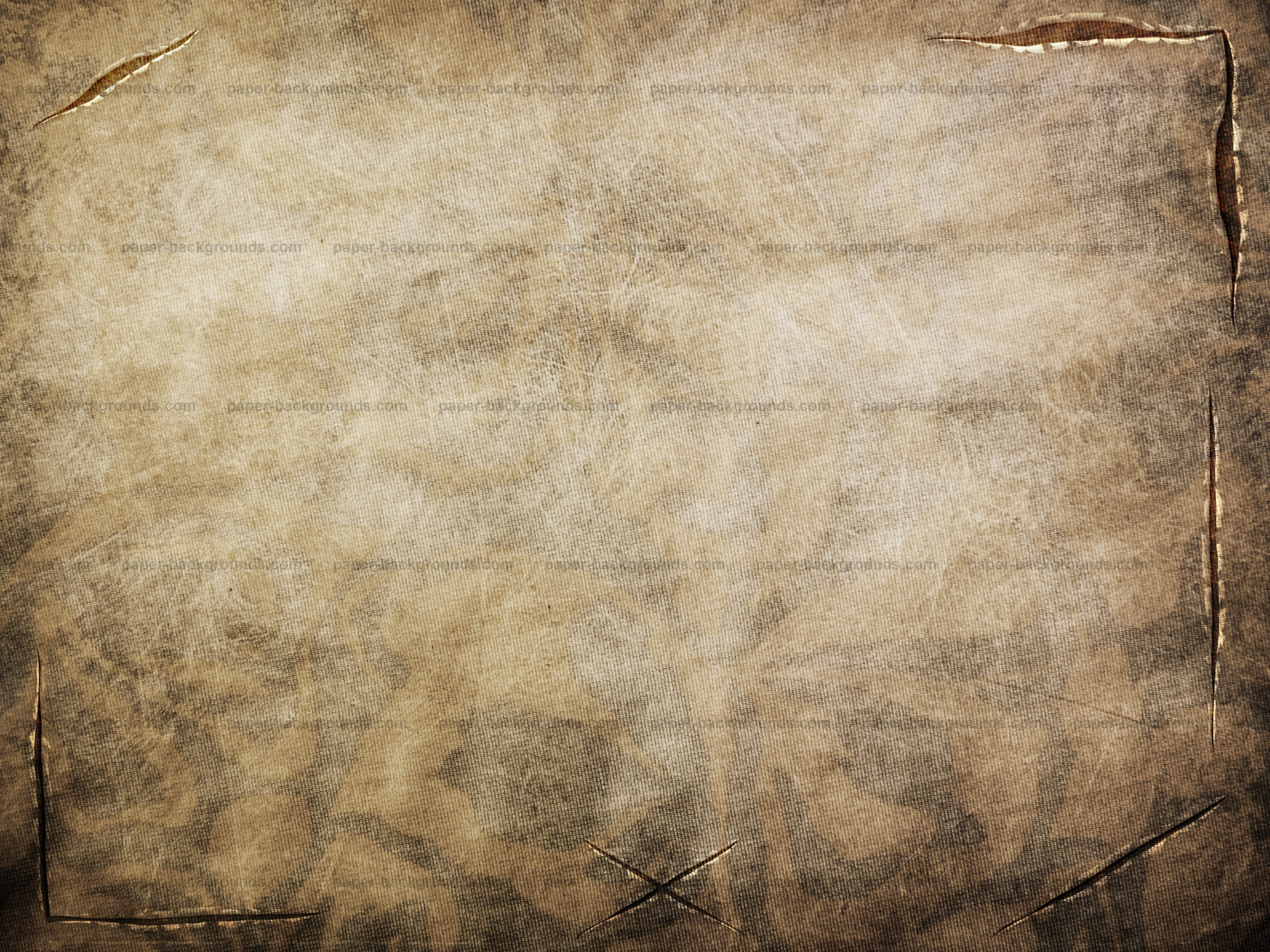 Vintage Brown Fabric Texture With Tears