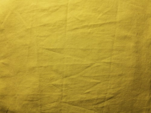 Yellow Crumpled Canvas Texture