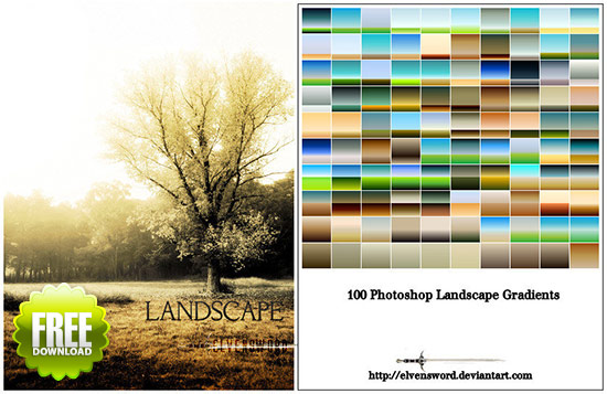 100 Landscape Photoshop Gradients