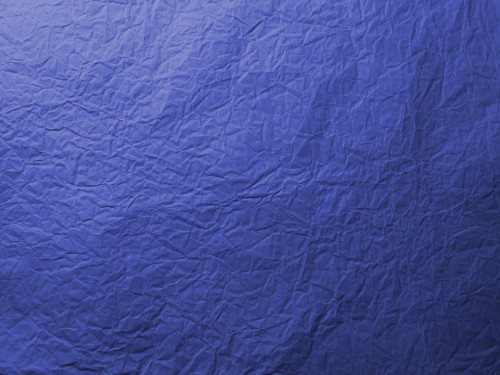 Blue Wrinkled Paper Texture, High Resolution