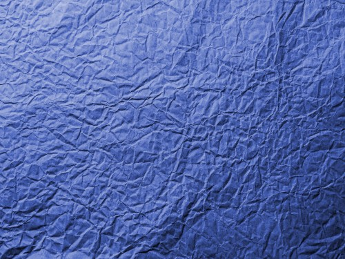 Blue Wrinkled Paper Texture Background, High Resolution