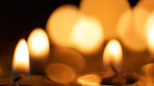 Candle Lights Bokeh Background HD 1920 x 1080p