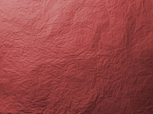 Red Wrinkled Paper Texture, High Resolution