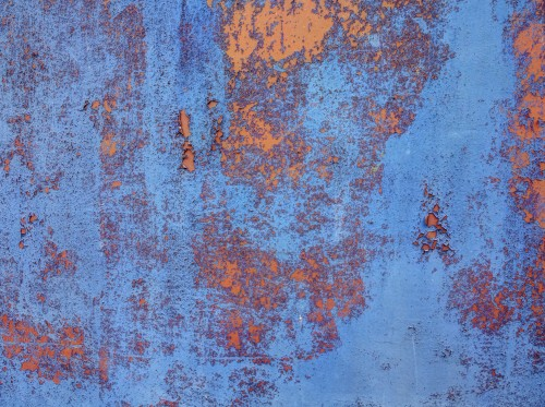 Blue Orange Rugged Rusty Metal Texture, High Resolution