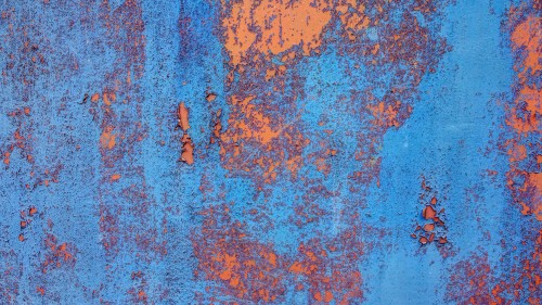 Blue Orange Rugged Rusty Metal Texture HD 1920 x 1080p