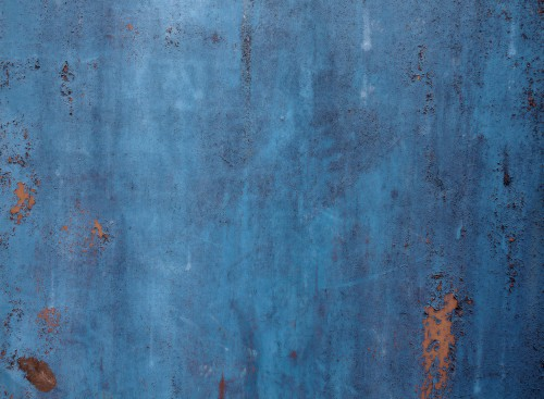 Blue Rusty Metal Background Texture, High Resolution