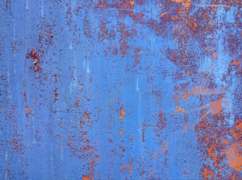 Grunge Blue Rusty Metal Panel Texture, High Resolution