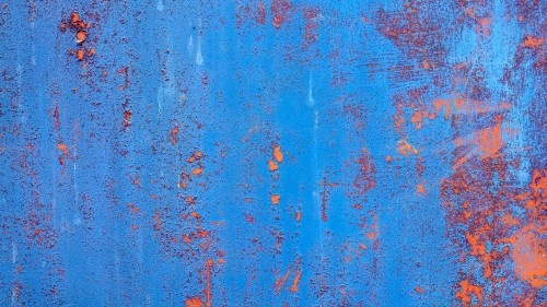 Grunge Blue Rusty Metal Panel Texture HD 1920 x 1080p