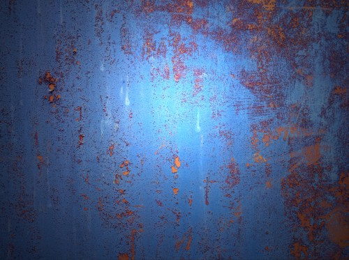 Grunge Rusty Blue Metal Background, High Resolution