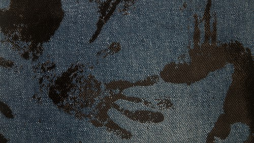 Blue Jeans Texture With Black Paint Traces HD 1920 x 1080p