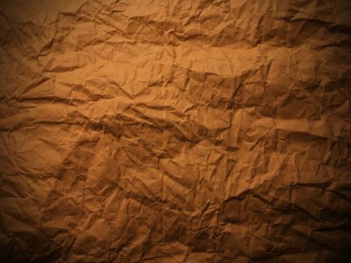 Wrinkled Brown Paper Texture Background, High Resolution