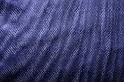 Blue Fabric Texture Background, High Resolution