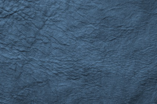 Marine Blue Wrinkled Leather Background, High Resolution