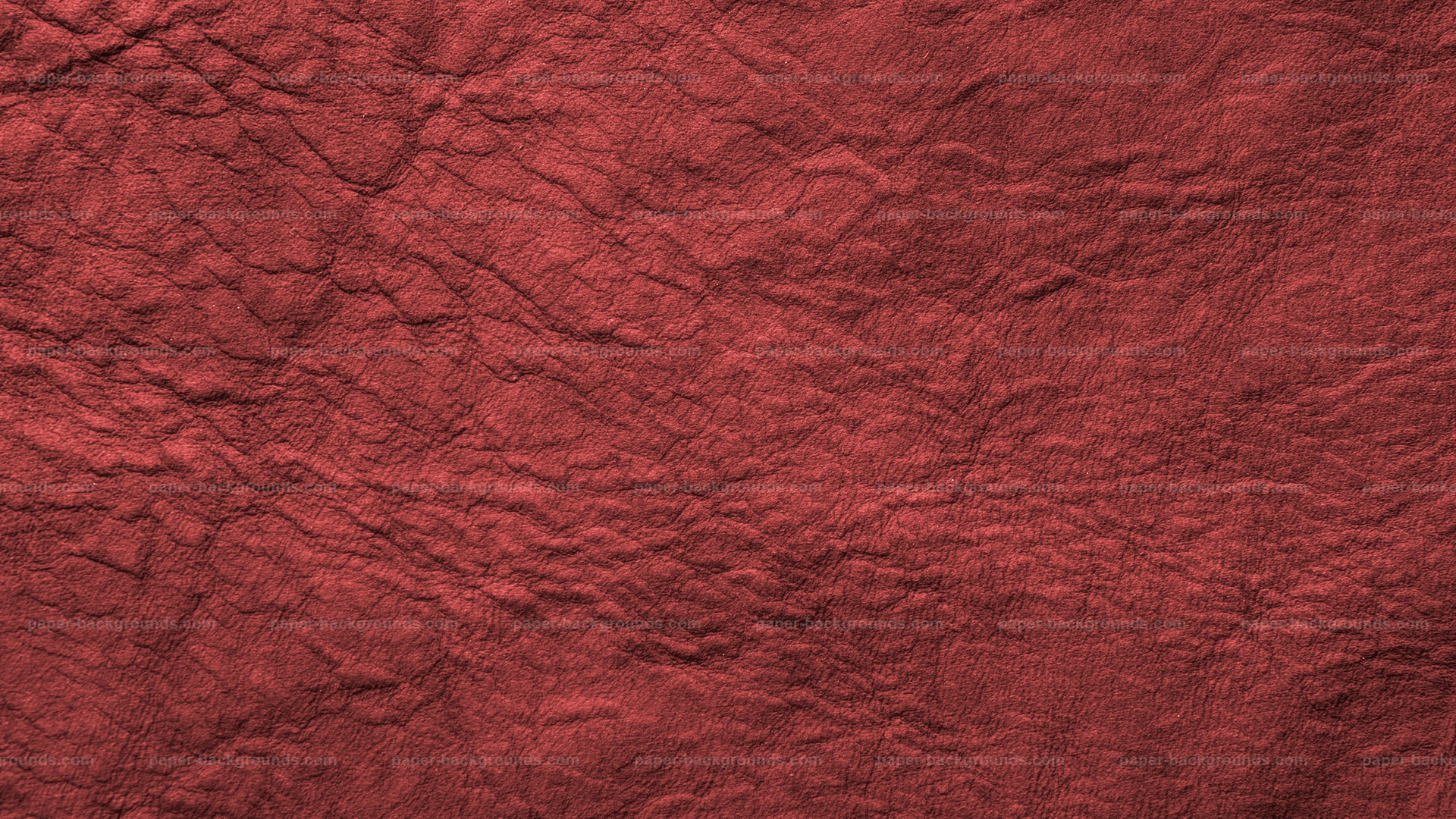 Red Wrinkled Antique Soft Leather Texture HD 1920 x 1080p