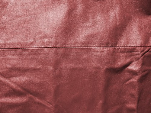 Sewed Red Leather Texture, High Resolution