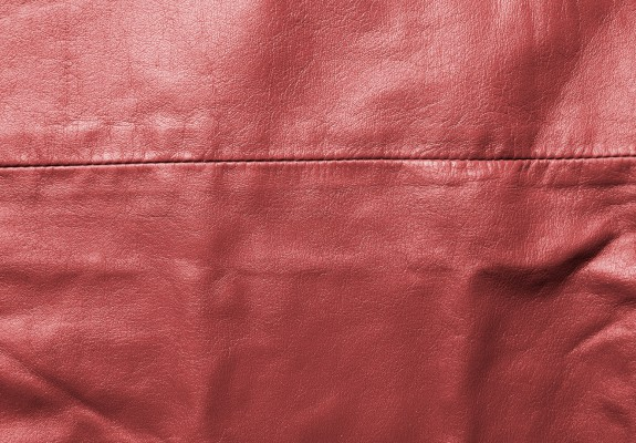 Sewed Red Leather Texture